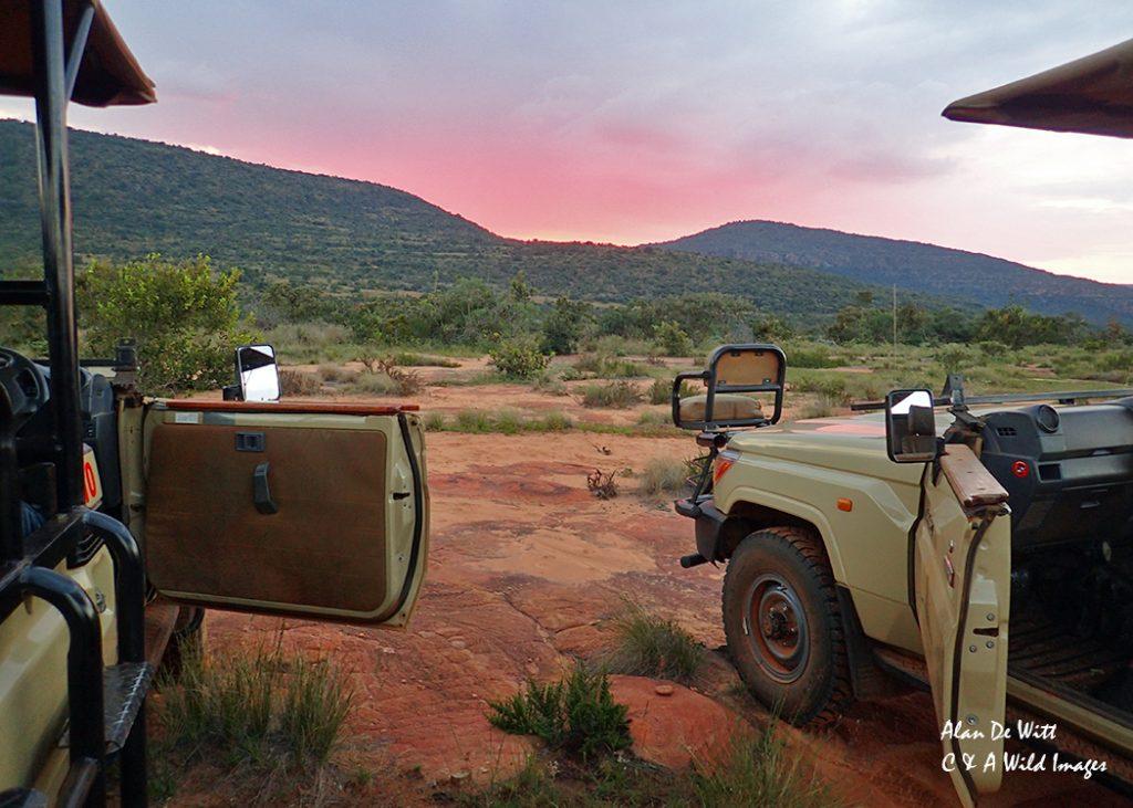 Sundowner stop on top of the escarpment