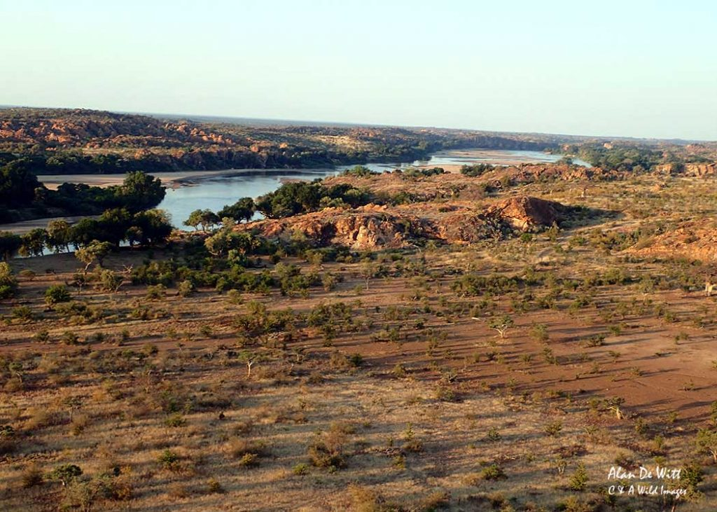 Sundowers over the Limpopo river