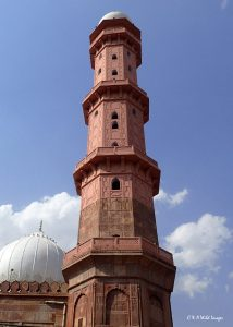 One of the 18 storey minarets