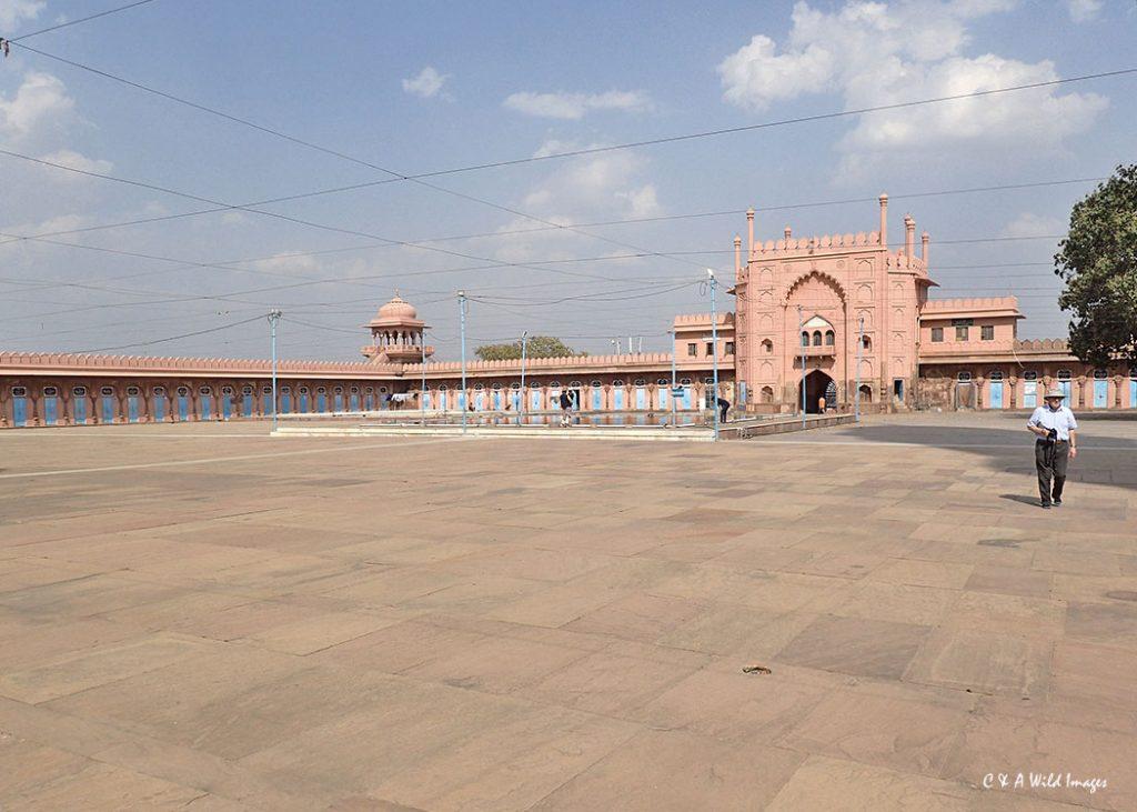 The huge courtyard at Taj-ul-Masjid Mosque in Bhopal