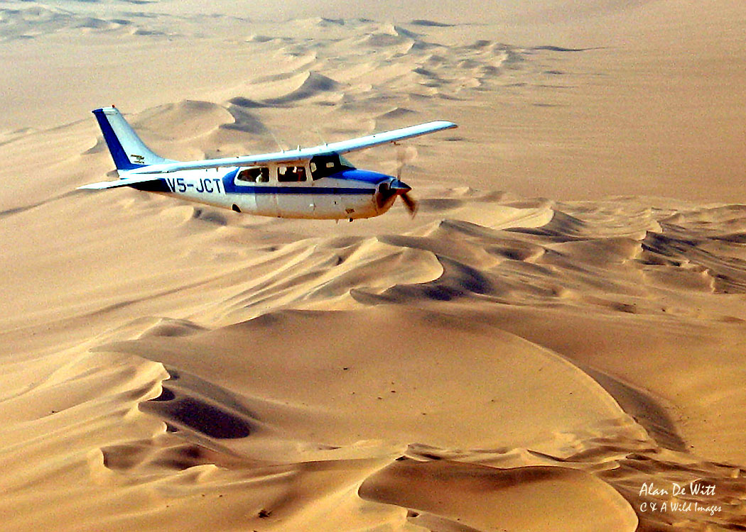 Flying across the Namib Sand Dunes