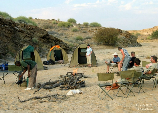 Camp site in the Damaraland