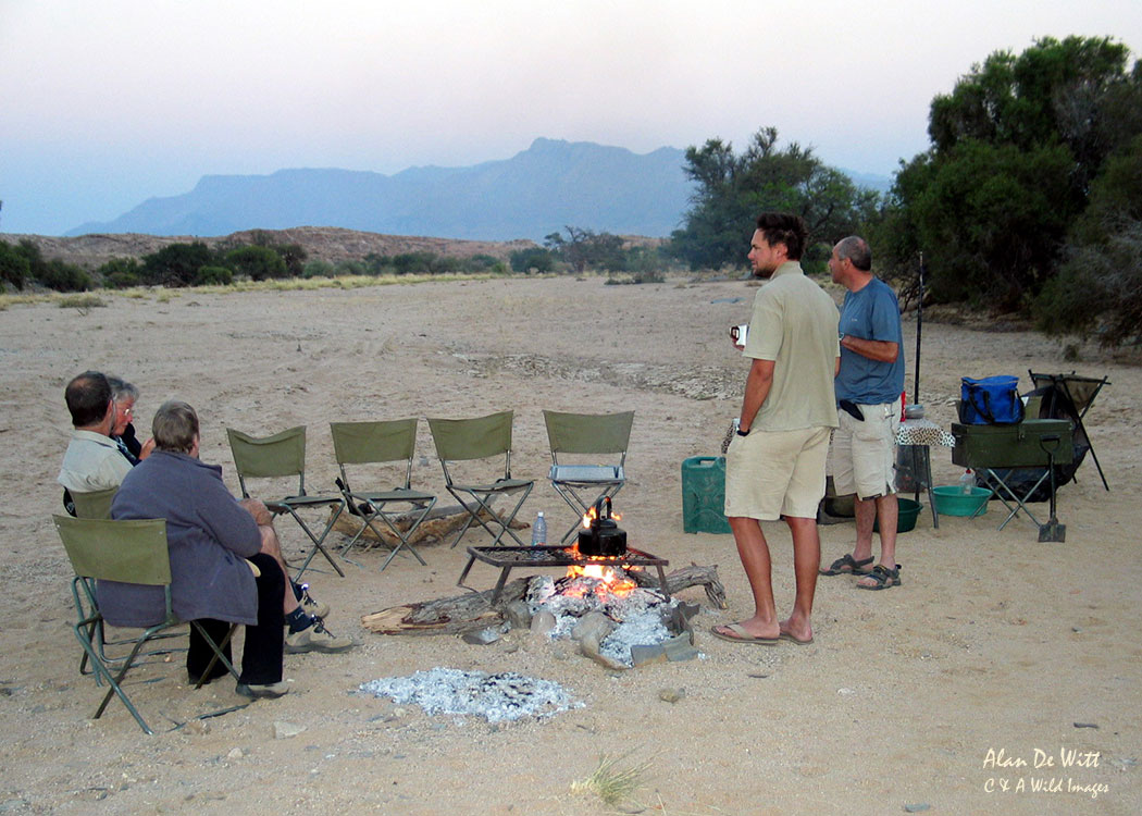 Camping in the Damaraland